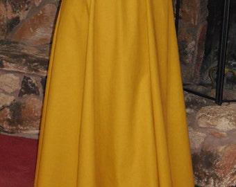 Gold Linen Peasant Skirt