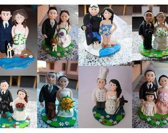 CUSTOM handmade CAKE TOPPER