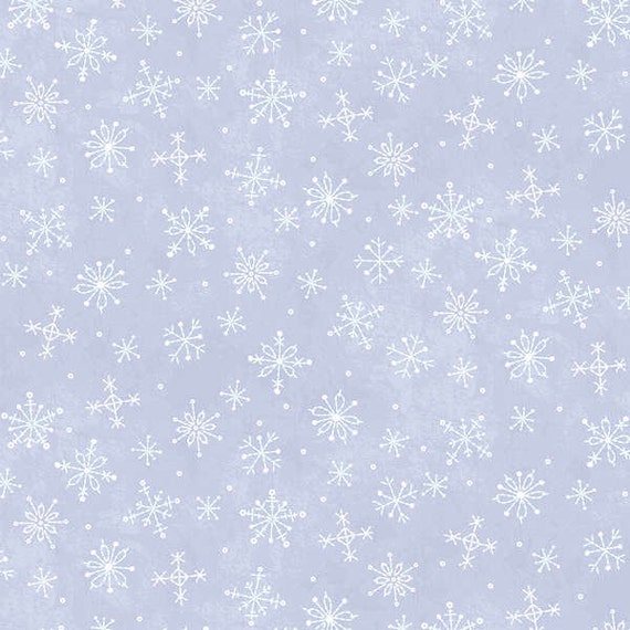 Blue Fabric With Snowflakes Snowflake Fabric Snow