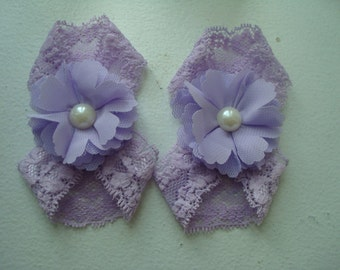 Baby girl sandals-newborn baby sandals-barefoot lace sandals-purple flower sandals-baby girl-lavender barefoot sandals-little girl sandals