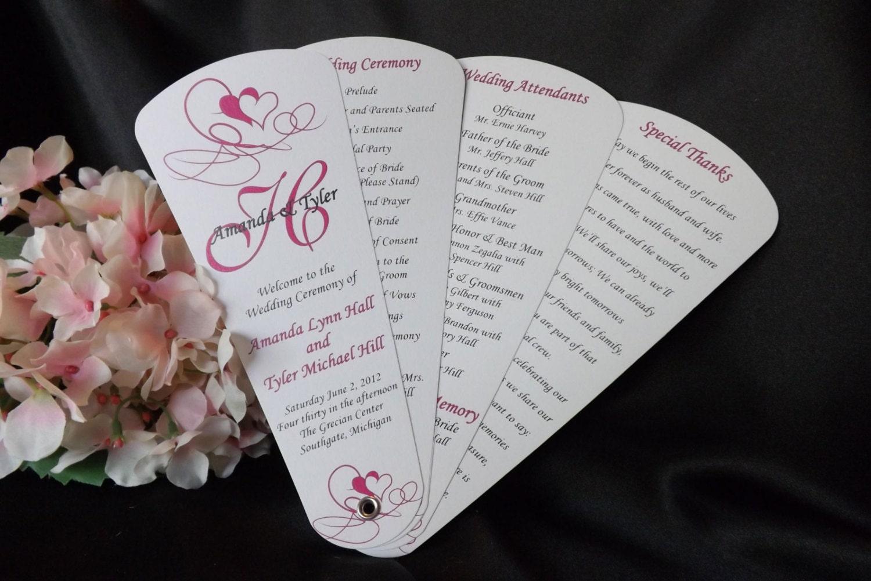 Wedding Program Fans Petal Fan Programs Fan By WeddingSophisticate
