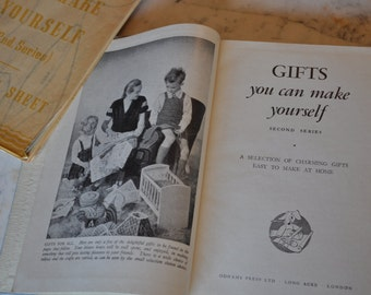 GIFTS you can make yourself Book second series A selection of charming gifts Easy to make @ Home Odhams Press London Includes Pattern Sheet