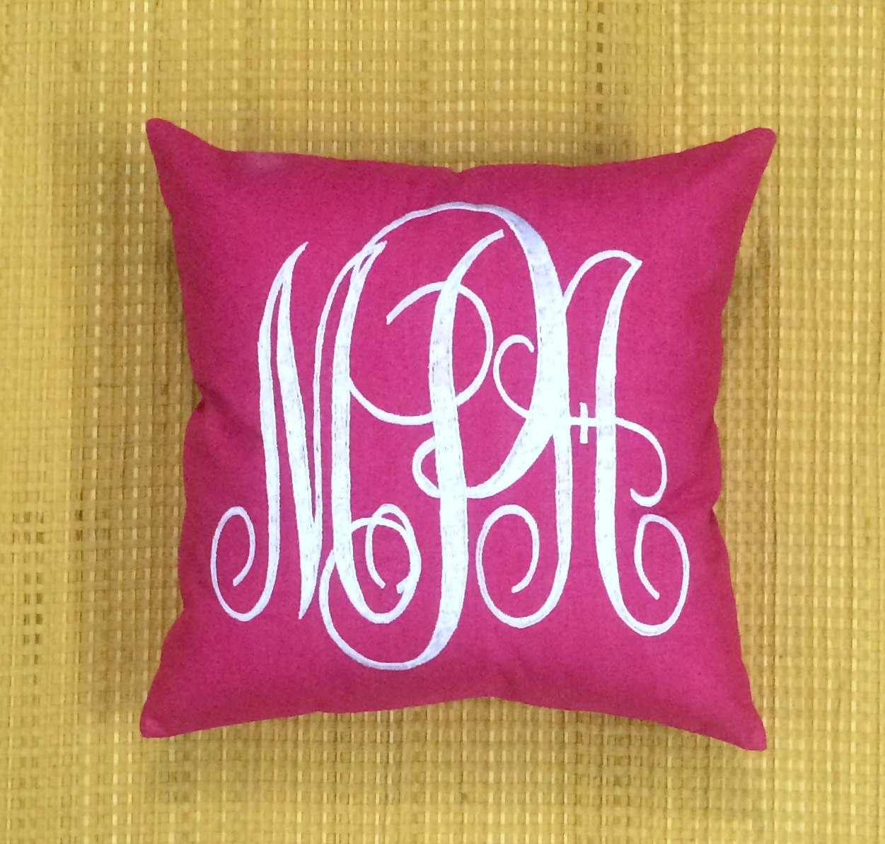 Decorative Monogram Pillow : 30%OFF Monogram Pillow Decorative Pillow Personalized Gift