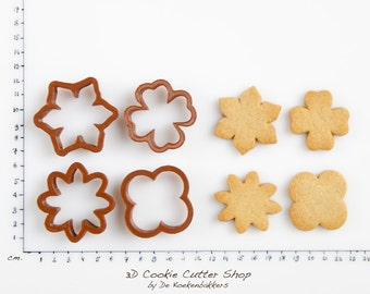 Flower Bouquet Cookie Cutter Set