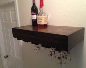 Wine Glass Holder Floating Shelf