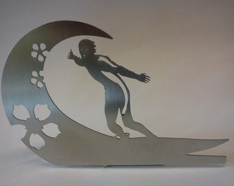 "wave surfer - ""hawaii flower""-decorative object for the desktop"