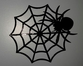 Spider and Web Wall Hanging
