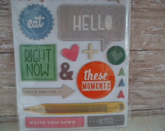 AMY Tangerine THICKERS 57 Chip Board Accents