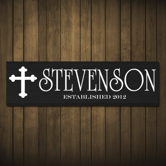 Family Last Name Personalized Cross Family By