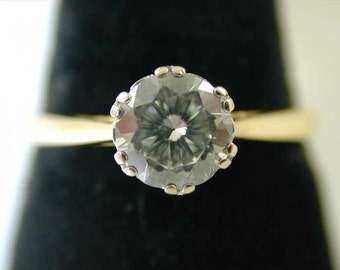 Diamond solitaire ring 18ct gold 0.75 cts size Q 1/2 1991 g colour anchorcert