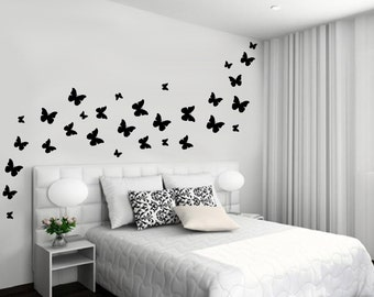 Wall Vinyl Decal 30 Beautiful Butterflies various sizes