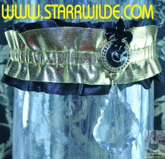 STARR WILDE STEAMPUNK Garter Arm Leg Gold Black by STARRWILDE
