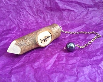 Rowan Pendulum with Ogham Symbol
