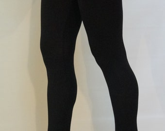 Black Leggings with Lace/Black Extra Legings/Leggings for Tunics and Dresses/F1146