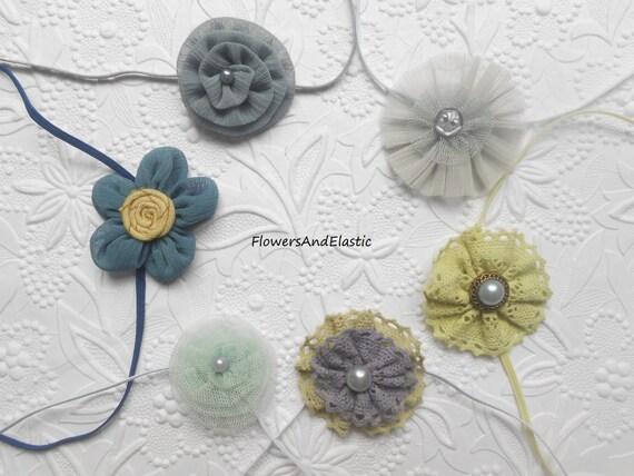 Set of 6, Set of  flowers Baby Headband, Newborn Headband,  Infant Headband,Baby Headband, Headband Baby,Baby Headband