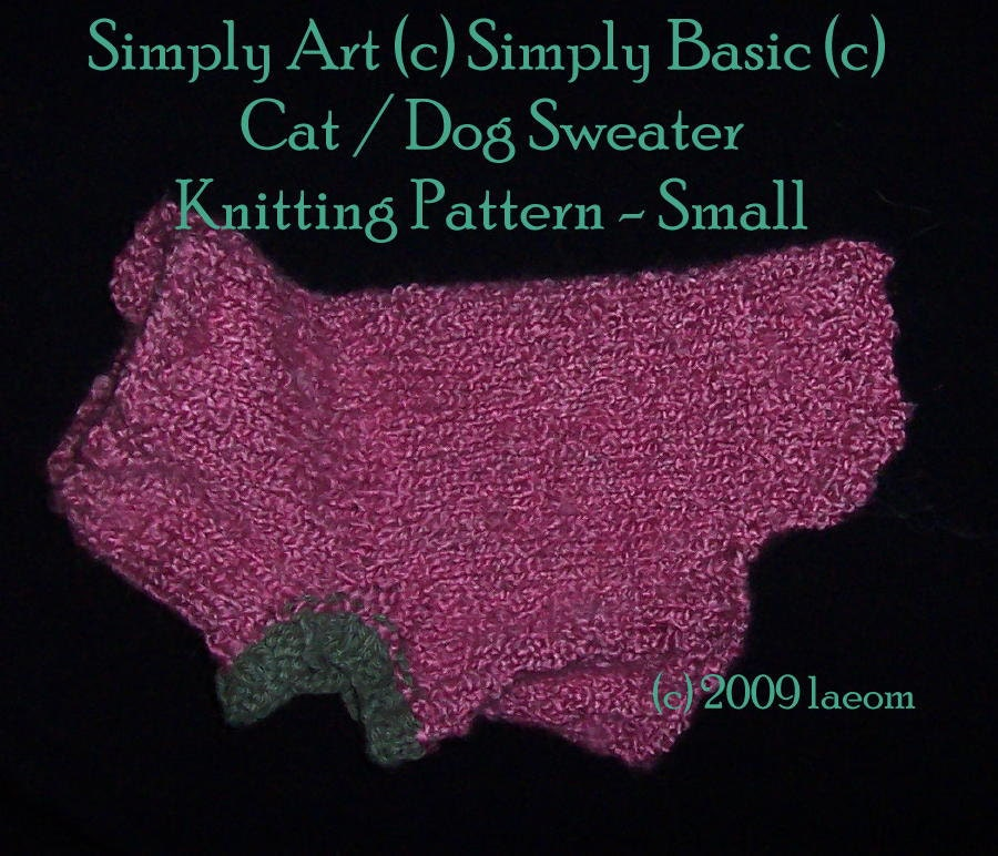 Cat Jumper Knitting Pattern : Simply Art ? Simply Basic ? Cat or Dog Sweater Knitting