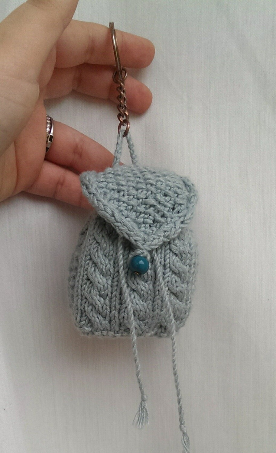 N2L Backpack Keyring knitting pattern