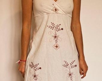 Embroidered Dress - Handmade