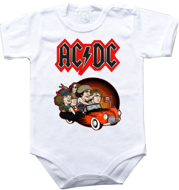 Baby bodysuit AC DC 3 ACDC rock hard funk One by ...