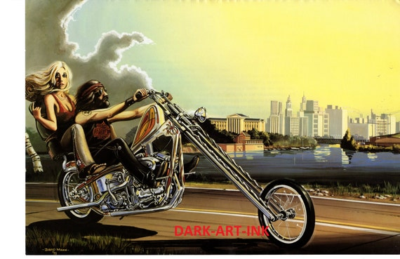 david mann motorcycle art poster freedom of the road by. Black Bedroom Furniture Sets. Home Design Ideas