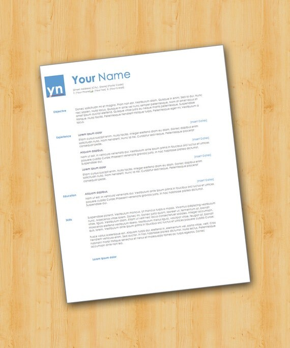 Professional Resume Template Microsoft Word: Items Similar To Professional Resume Template
