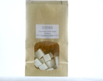 Vegan- Cloth Wipes Solution- 50 cubes