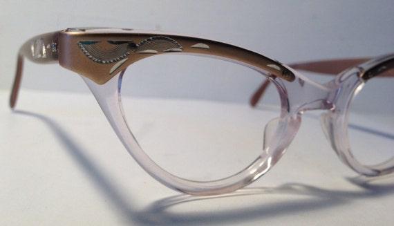vintage eyewear cat eye style made in usa by