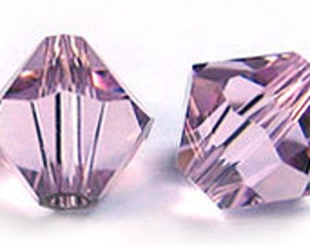 Swarovski 3mm Bicone - Light Amethyst - Pack 20