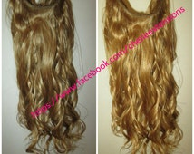 Balayage Dip Dye 8A Remy Human Hair Halo Flip In Angel Wire Hair Extensions  Any length   Strawberry Blonde Colour 27 Carame