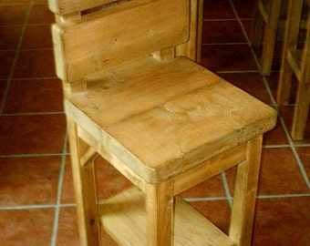 New Handmade Rustic Kitchen High Chairs/Stools 046