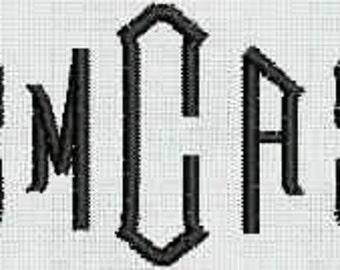 Instant Download Embroidery Machine Designs Diamond Monogram 82 Files Alphabet Shirt Pocket Small Monogram Frame PES Format