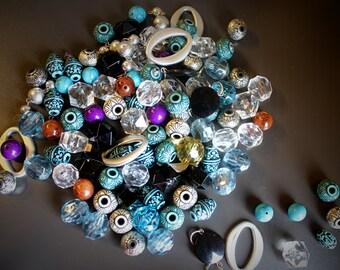 6.8 ounces Acrylic and Plastic Destash Bulky Beads