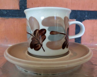 ARABIA of Finland Koralli Vintage cup and saucer.