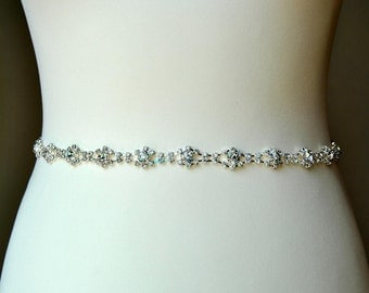 Thin All around Wedding dress Bridal Sash,Wedding Sash Belt,  Rhinestone Sash,  Rhinestone Bridal Bridesmaid Sash Belt, Wedding dress sash
