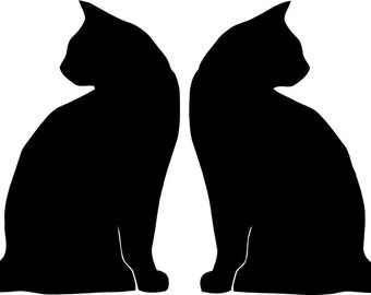 two black cats vinyl decal/sticker
