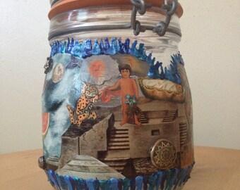 Frida Kahlo Collage Jar