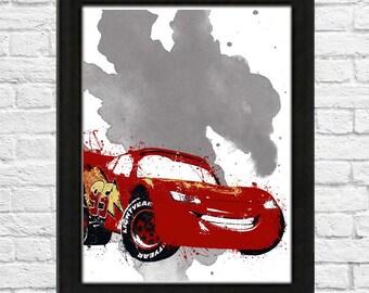Car's Lightening McQueen Poster