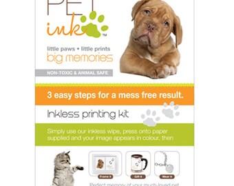 Pet keepsake Pet Ink inkless paw printing kit