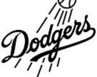 Los Angles Dodgers decal  free shipping