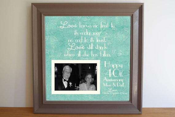 40th Wedding Anniversary GiftAnniversary Gift for MomDad ...
