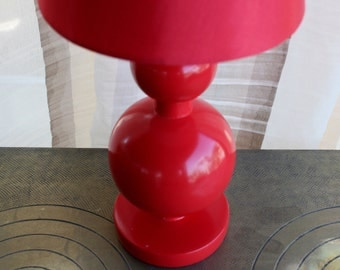 Red Wood Lamp