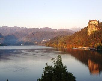 Lake Bled and Castle at Sunrise, Slovenia