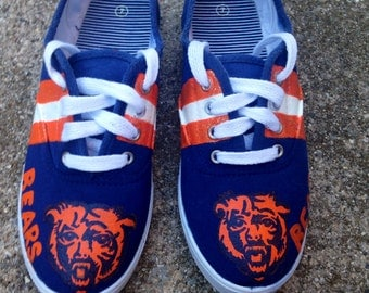 Chicago Bears Inspired Hand Painted Shoes