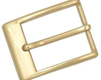 """Metro Belt Buckle 1-1/2"""" Solid Brass 1660-11"""