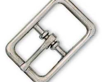 "Center Bar Roller Buckle 5/8"" (1.6 cm) Nickel Plated 1510-00"