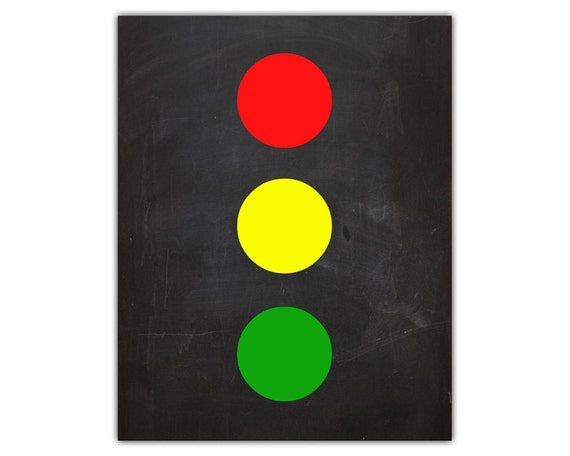 Traffic light playroom wall decor kids playroom art boys