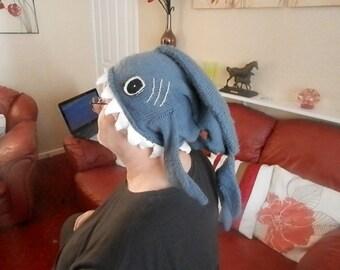 Knitted Shark Hat