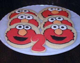 Elmo Cookies, Decorated  Character Sugar Cookies