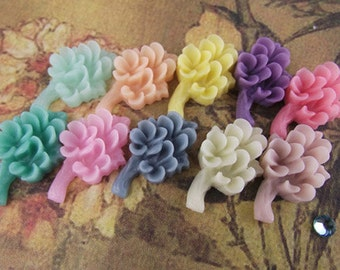 20pcs Resin flower cabochon for Pendant Charm Craft Jewelry.