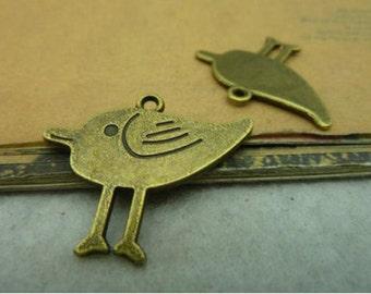 35pcs  Antique Bronze Lovely Bird Charms Pendant. c152-1